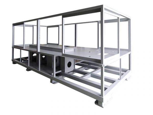 Châssis mécano-soudé réalisé par DMA concepteur et fabricant de machines spéciales et d'assemblage