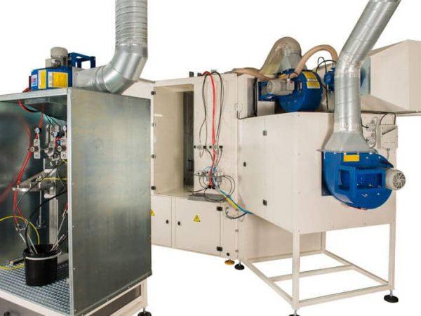 Machine de peinture par pulvérisation robotisée Atex OF2393 - vue arrière